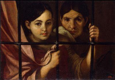 Celestina y su hija en la cárcel o Dos mujeres en la ventana de Murillo (Atribuido, 1645 c.)