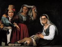 Cuatro figuras en un escalón, de Murillo (1655. c)