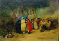 Maja y celestina en la romería, de Perez Rubio (1850 c.)