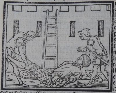 Ilustración segunda del acto 19 de la edición de Lisboa (1540)