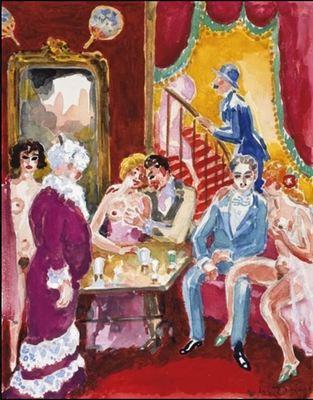 El narrador y Albert Bloch en el burdel, de van Dongen (1930 c.)
