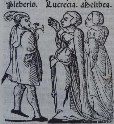 Ilustración primera del acto 20 de la edición de Lisboa (1540)