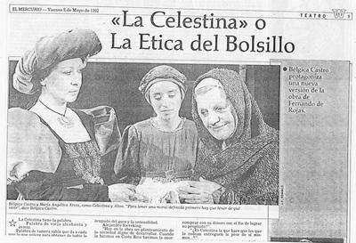 Representación en el Centro Montecarmelo, Santiago de Chile, de Sieveking (1992)