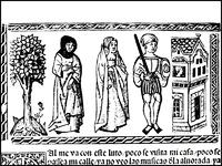 Grabado del acto XVII de la edición de Valencia (1514)