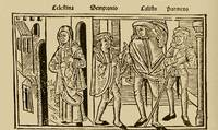 Grabado del acto II de la edición de Burgos (1499)
