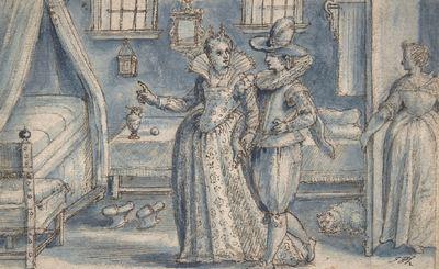 Estudio para un grabado del Hortus Voluptatum, de de Passe (1599)