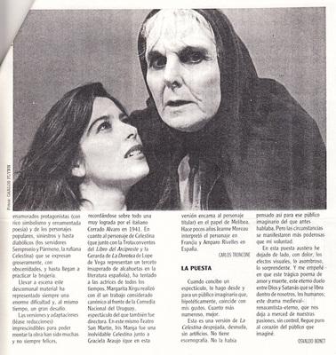 Representación del Teatro San Martín, Buenos Aires, 1994.