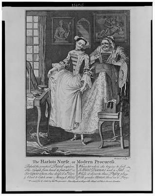 The Harlot's Nurse (la criada de la cortesana), de Boitard (1750)