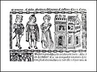 Grabado del acto I de la edición de Valencia (1514)