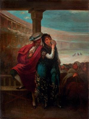 Pareja de majos, de Lucas Velázquez (1842)