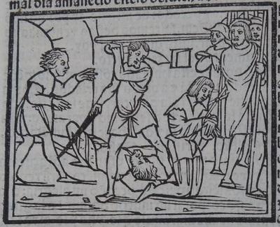 Ilustración del acto 13 de la edición de Lisboa (1540)
