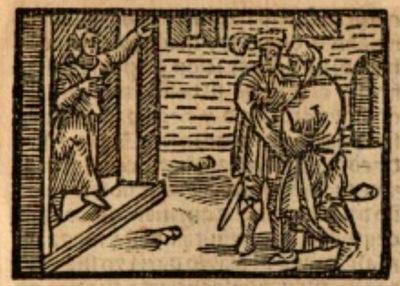 Ilustración del acto III de la edición de Estella (1557)