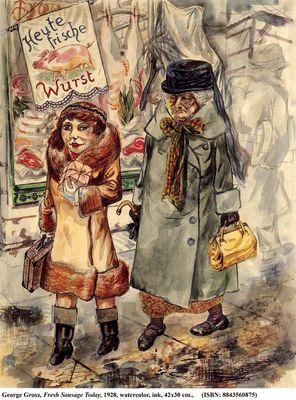 Hoy salchichas frescas, de Grosz (1928)