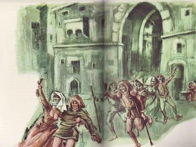 Ilustración segunda del acto XVIII de la edición Barcelona (1968)