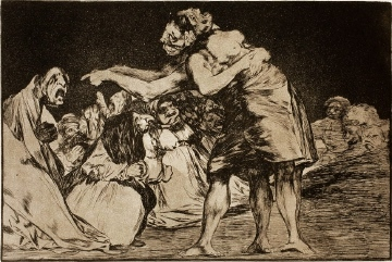 Disparate matrimonial, de Goya (1815)