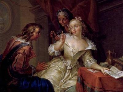Escena galante, de Janneck (1731 c.)