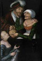 La alcahueta, de Cranach (1548)