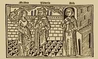 Grabado del acto XV de la edición de Burgos (1499)