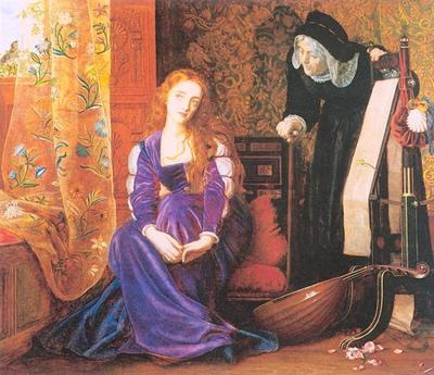 'The Pained Heart', o 'Sigh No More, Ladies', o 'Juliet and her Nurse, de Hughes (1867)'