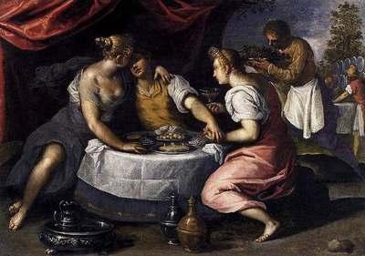 Las diversiones del hijo pródigo, de il Giovane (1595)