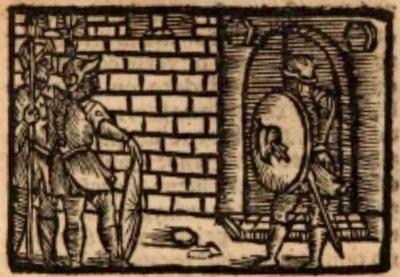 Ilustración del acto XII de la edición de Estella (1557)