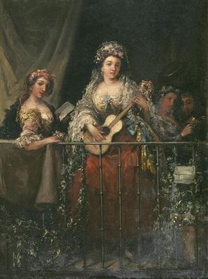 Majas al balcón, de Velásquez (1862)