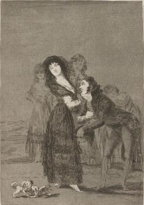 ¿Quien es más rendido? de Goya, 1799