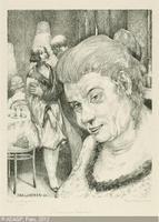 Portrait einer Kupplerin (retrato de una alcahueta), de Baluschek  (1923)