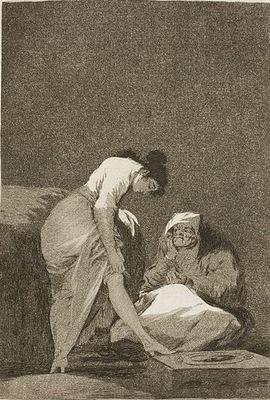 Bien tirada está, de Goya (1797)