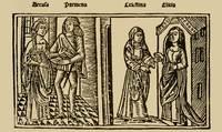 Grabado del acto VII de la edición de Burgos (1499)