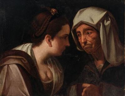 Cortesana y alcahueta, de Lama (1720 c.)