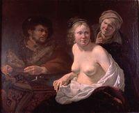 De koppelaarster (la acahueta), de Bronckhorst (1636-1638)