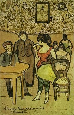 Escena de burdel, para Vicente, de Bernard (1888)