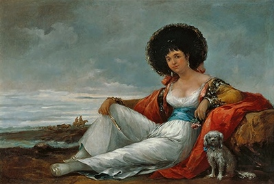 La maja del perrito, de Velásquez (1865)