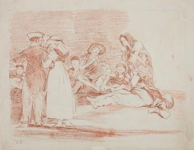 Lo peor es pedir, de Goya (1812)