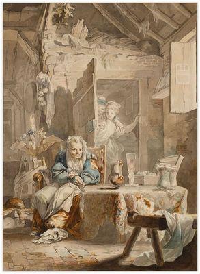 La Celestina y los enamorados de Paret, (1784)