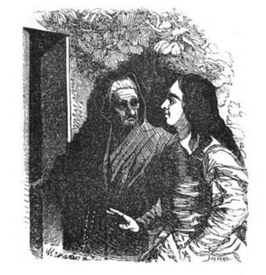 La Ortiz, personaje celestinesco en Gil Blas, edición de Barcelona, 1840
