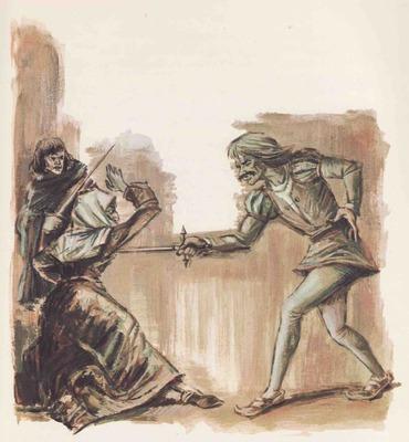 Ilustración tercera del acto XII de la edición Barcelona (1968)